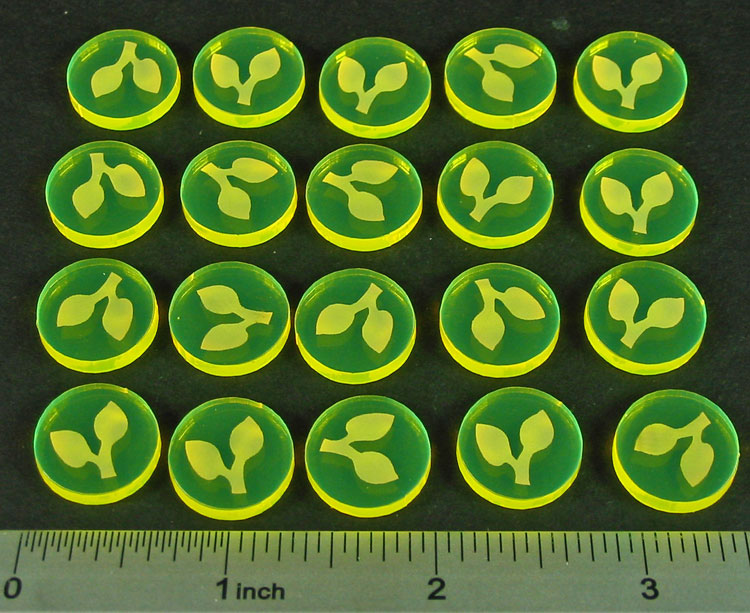 Seed Resource Tokens, Fluorescent Yellow (20) - LITKO Game Accessories