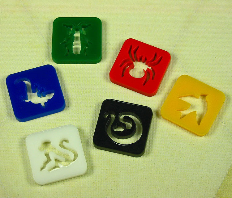 Dominant Initiative Token Set, Multi-Color (6) - LITKO Game Accessories