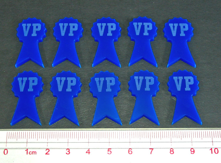 Victory Point Tokens, Blue (10) - LITKO Game Accessories