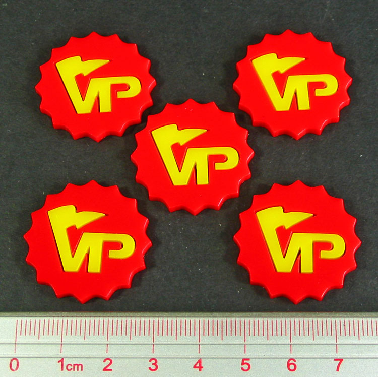 LITKO Deluxe Victory Point Tokens, Red/Yellow (5) - LITKO Game Accessories