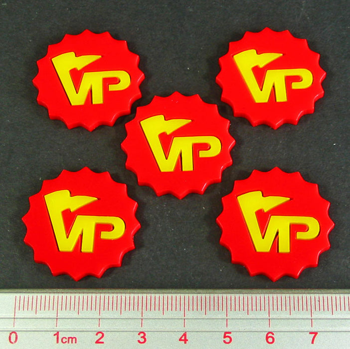 Deluxe Victory Point Tokens, Red & Yellow (5) - LITKO Game Accessories