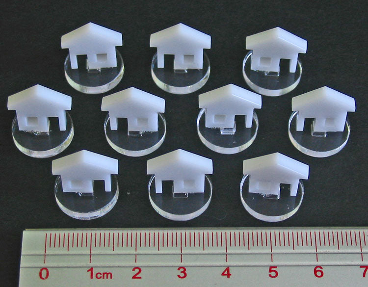 House Markers, White (10) - LITKO Game Accessories