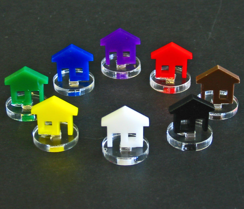 House Markers, Blue  (10) - LITKO Game Accessories