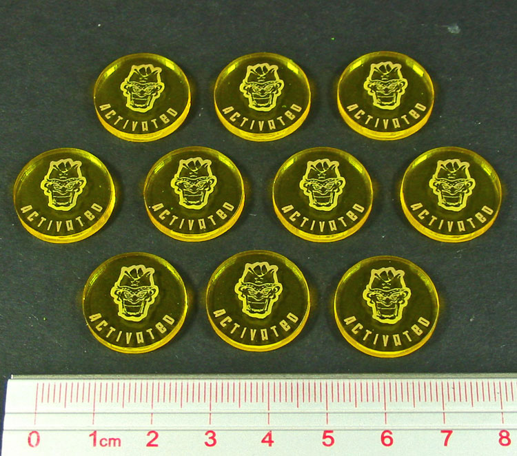 Disposable Heroes Activated Tokens, Transparent Yellow (10) - LITKO Game Accessories