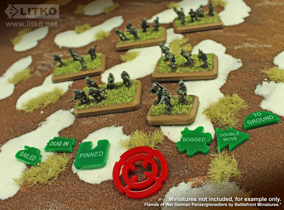LITKO Command Tokens Set Compatible with FoW, Green (25) - LITKO Game Accessories