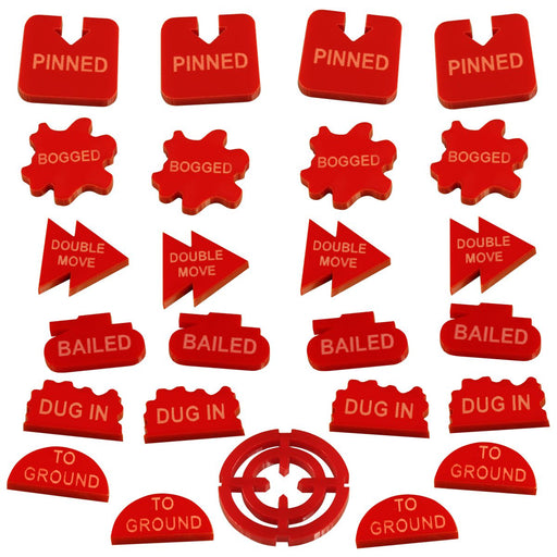 LITKO Command Tokens Set Compatible with FoW, Red (25) - LITKO Game Accessories