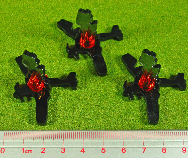 Plane Wreckage Markers (3) - LITKO Game Accessories