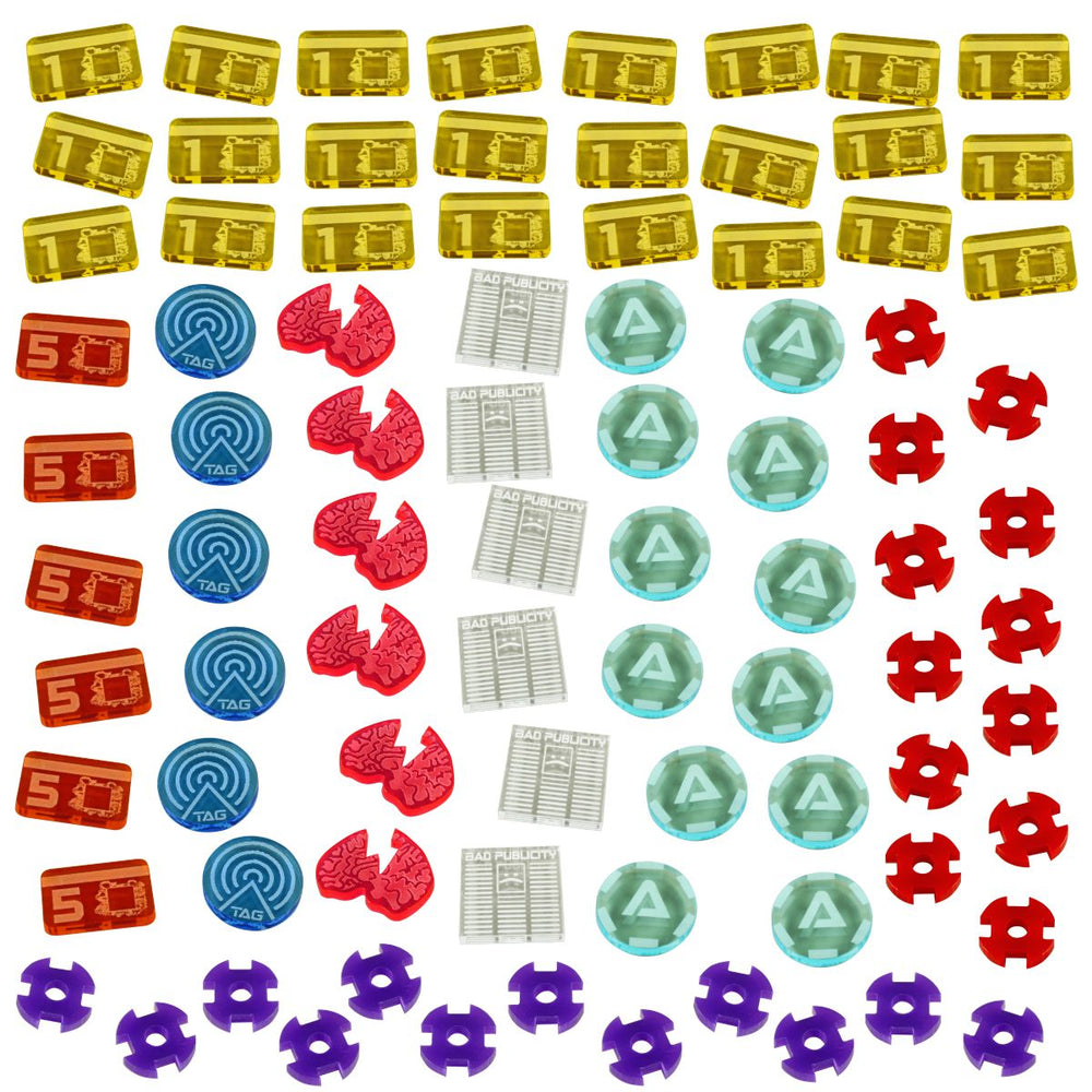 Net Hacker Token Set, Multi-Color (84) - LITKO Game Accessories