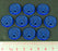 Tag Tokens, Fluorescent Blue (10) - LITKO Game Accessories