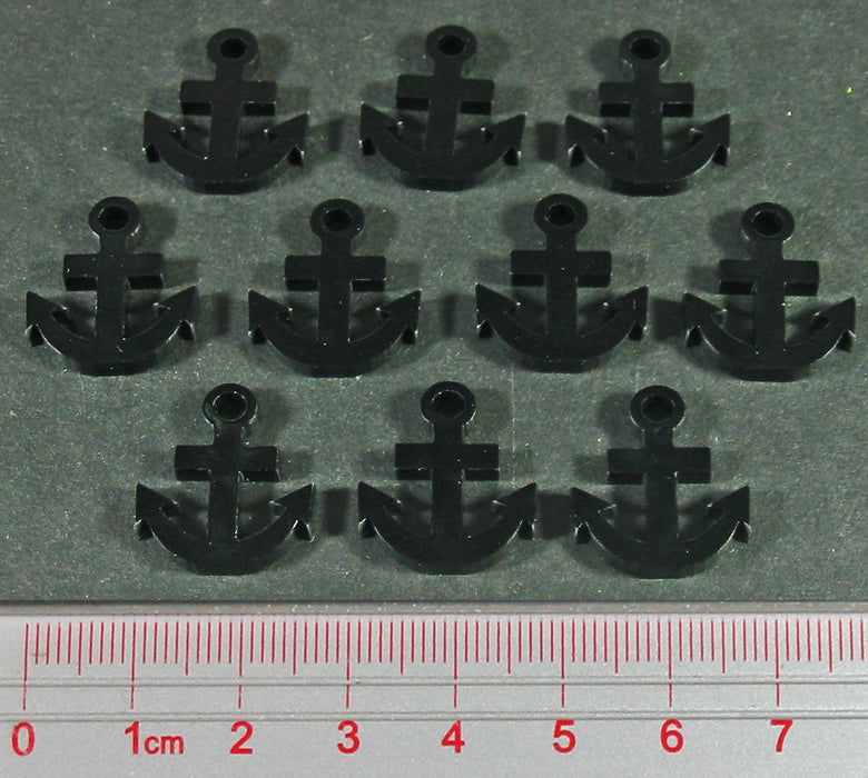 Anchor Tokens, Black (10) - LITKO Game Accessories