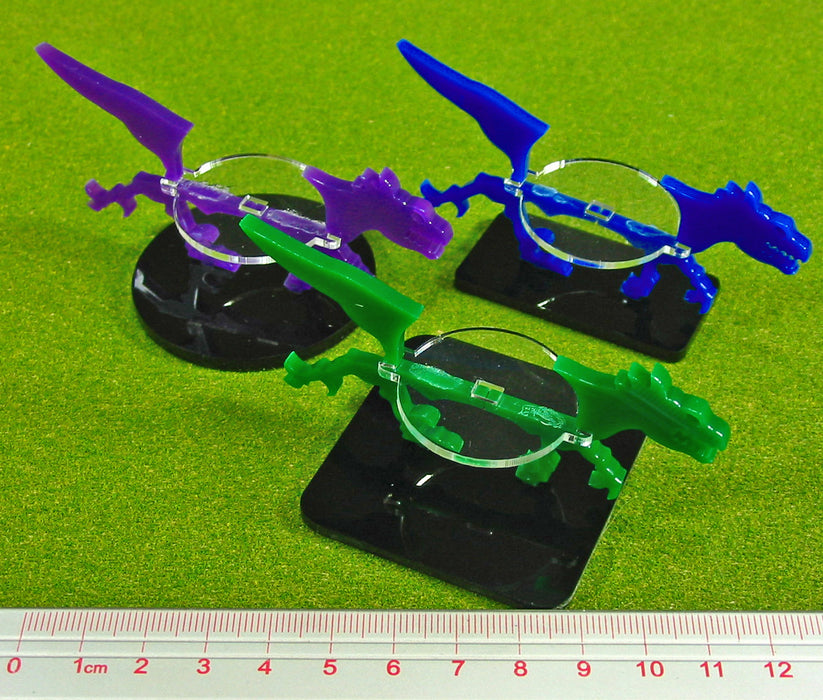 Raptor Character Mount with 40mm Circular Base, Purple - LITKO Game Accessories