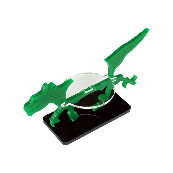 Raptor Character Mount with 25x50mm Base, Green - LITKO Game Accessories