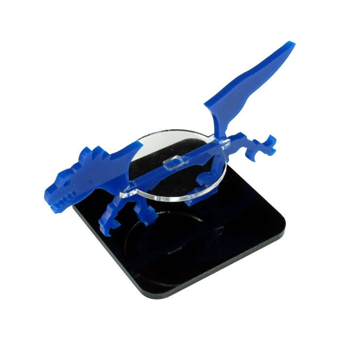 Raptor Character Mount with 2-inch Square Base, Blue - LITKO Game Accessories