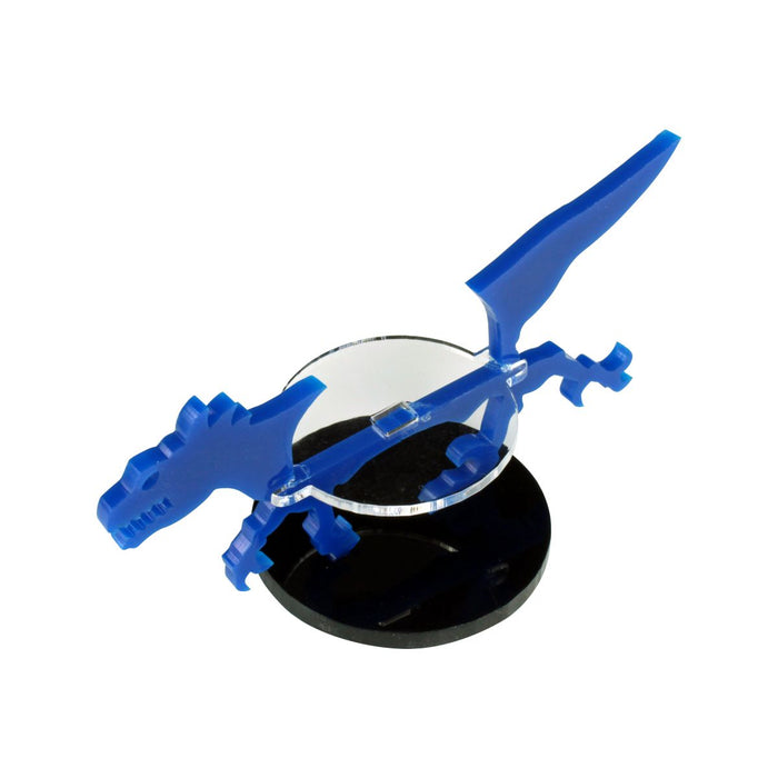 Raptor Character Mount with 50mm Circular Base, Blue - LITKO Game Accessories