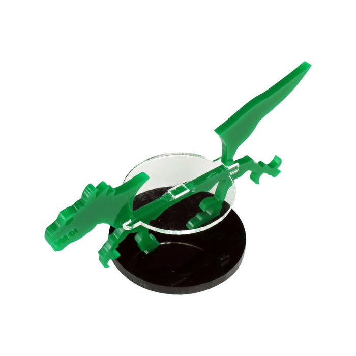 Raptor Character Mount with 40mm Circular Base, Green - LITKO Game Accessories