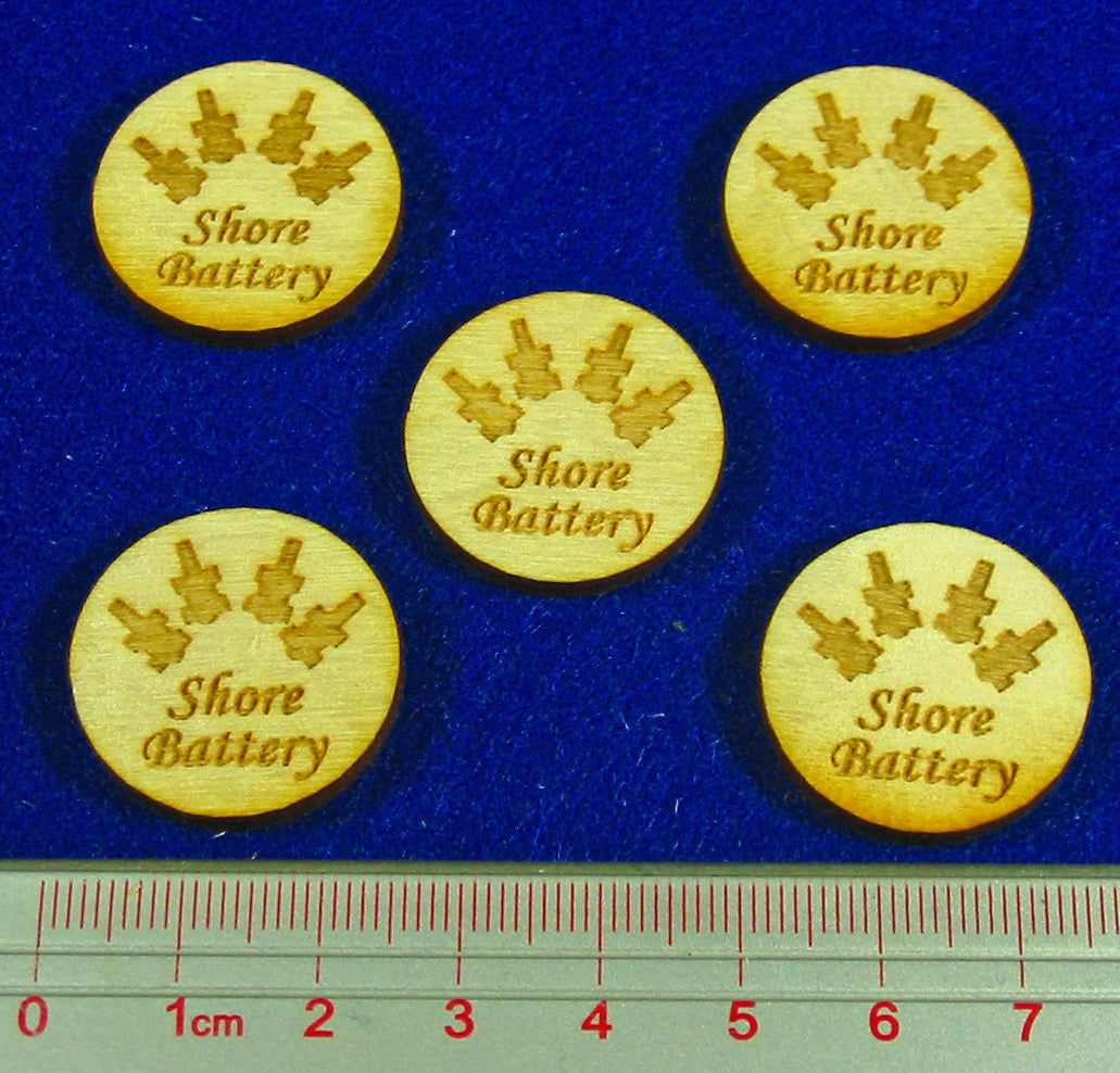 LITKO Shore Battery Tokens, Natural Wood (5) - LITKO Game Accessories