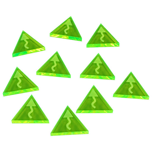 Space Fighter Evade Tokens, Fluorescent Green (10) - LITKO Game Accessories