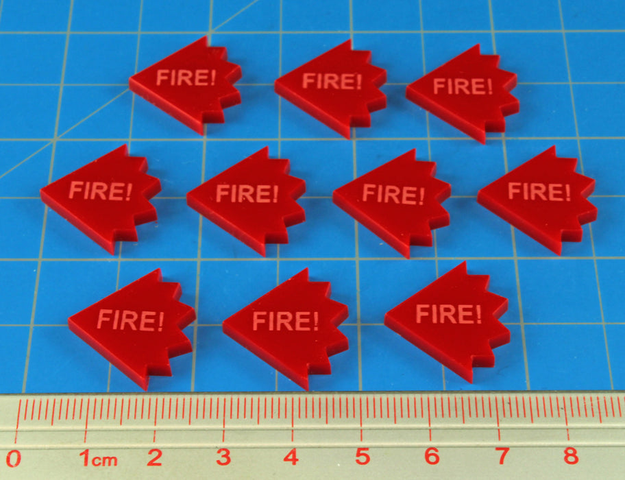 LITKO Fire! Tokens, Red (10) - LITKO Game Accessories