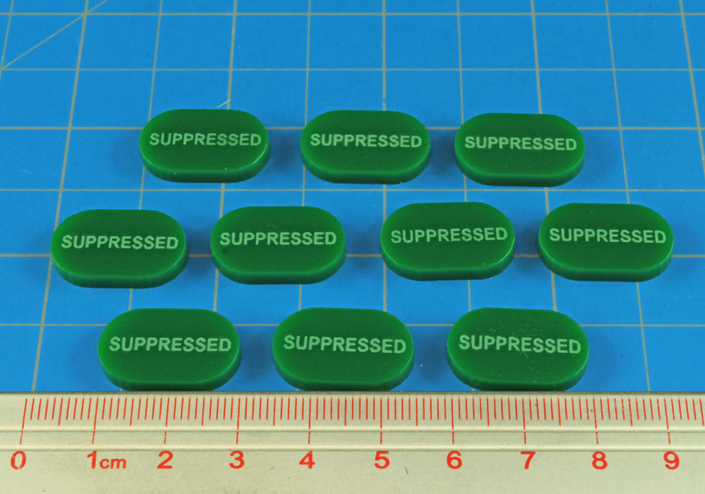LITKO Suppressed Tokens, Green (10) - LITKO Game Accessories
