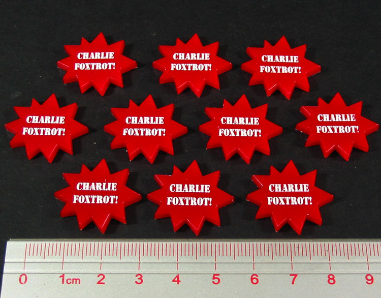 Charlie Foxtrot Tokens, Red (10) - LITKO Game Accessories