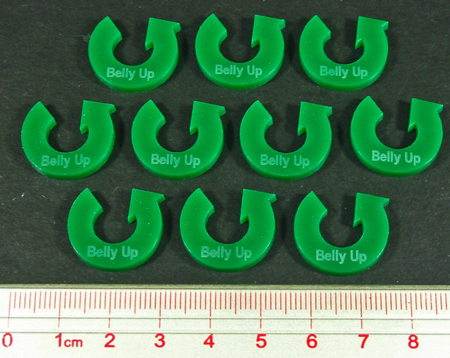 Belly Up Tokens, Green (10) - LITKO Game Accessories
