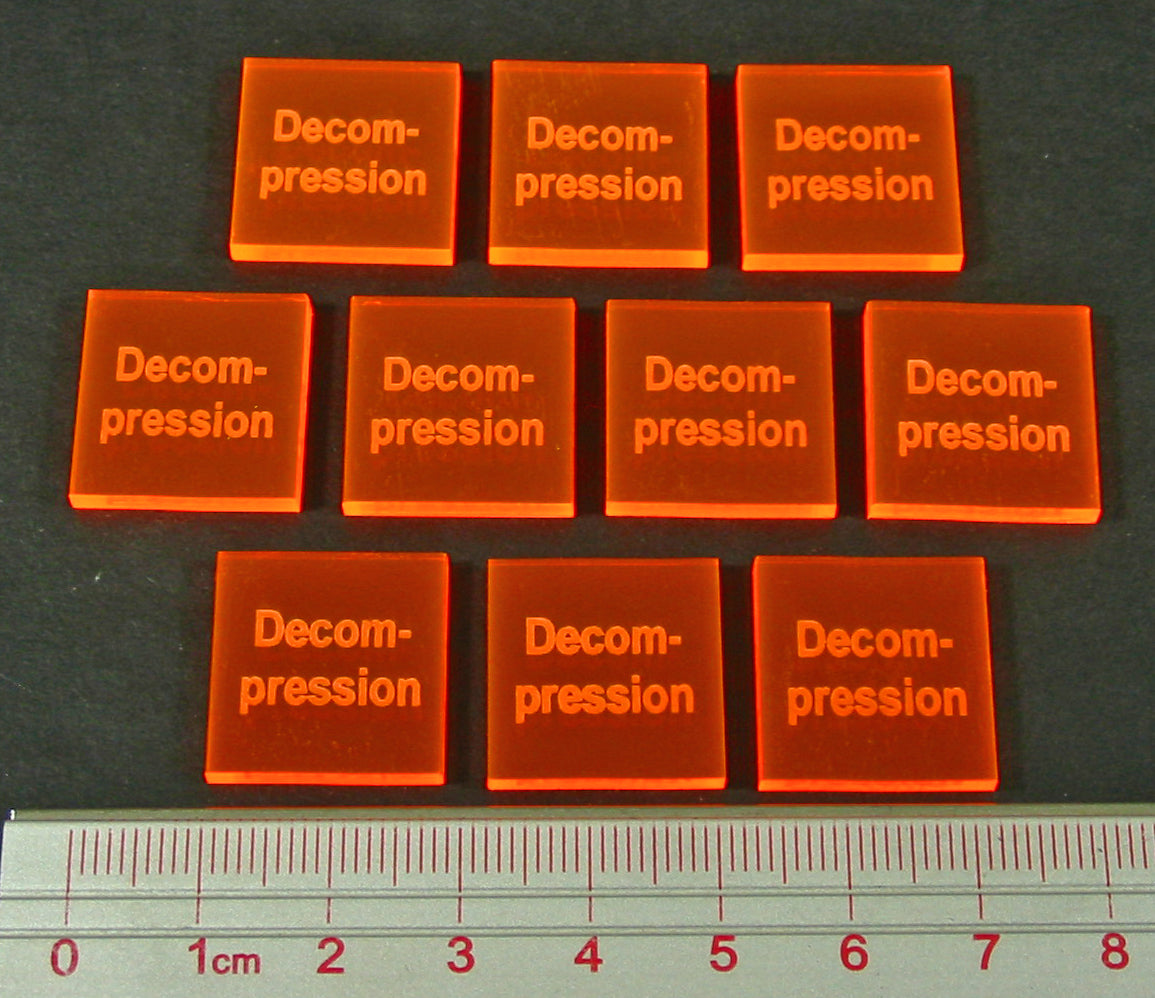 LITKO Decompression Tokens, Fluorescent Orange (10) - LITKO Game Accessories