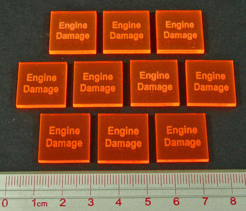 Engine Damage Tokens, Fluorescent Orange (10) - LITKO Game Accessories