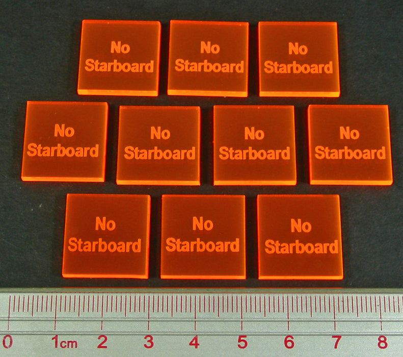 No Starboard Tokens, Fluorescent Orange (10) - LITKO Game Accessories