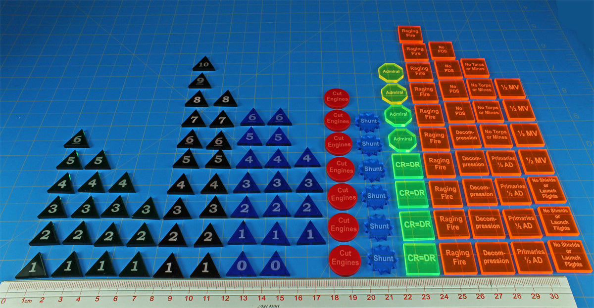 Firestorm Armada Mk2 Game Token Set, Multi-Color (108) - LITKO Game Accessories