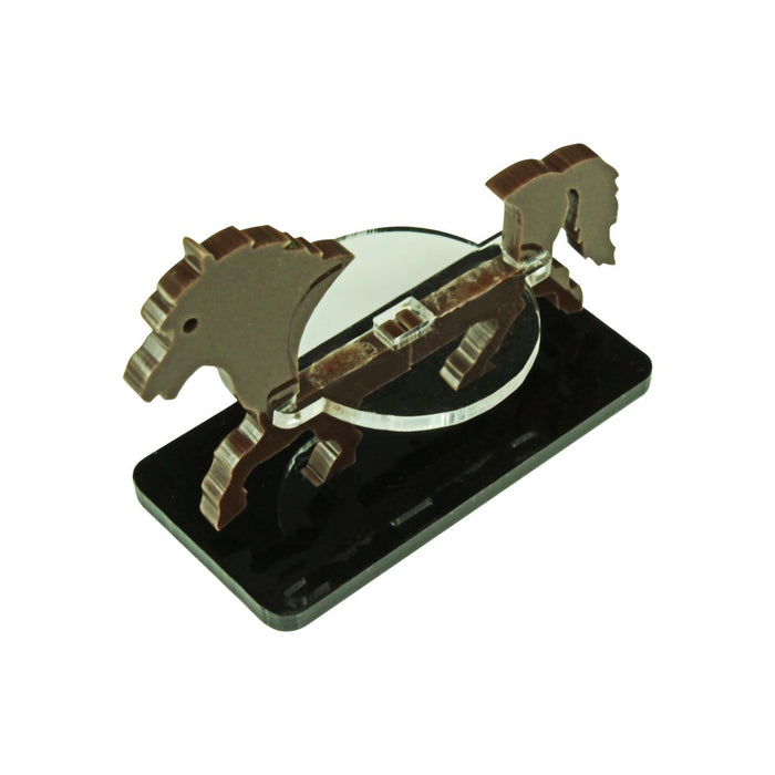 Pony Character Mount with 25x50mm Base, Brown - LITKO Game Accessories