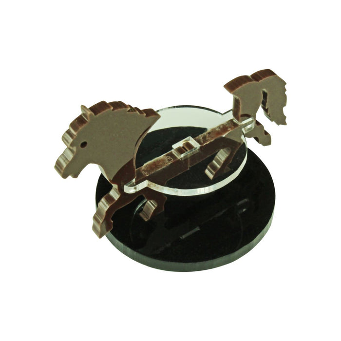Pony Character Mount with 40mm Circular Base, Brown - LITKO Game Accessories