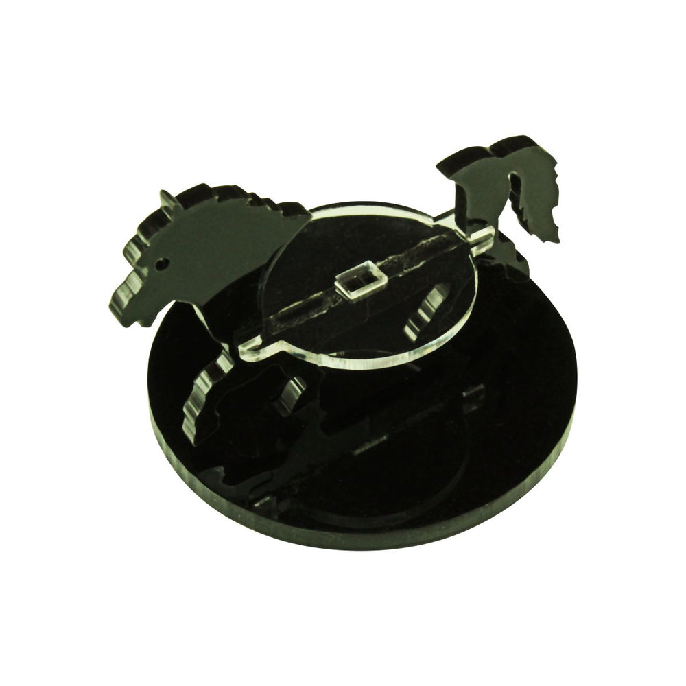Pony Character Mount with 50mm Circular Base, Black - LITKO Game Accessories