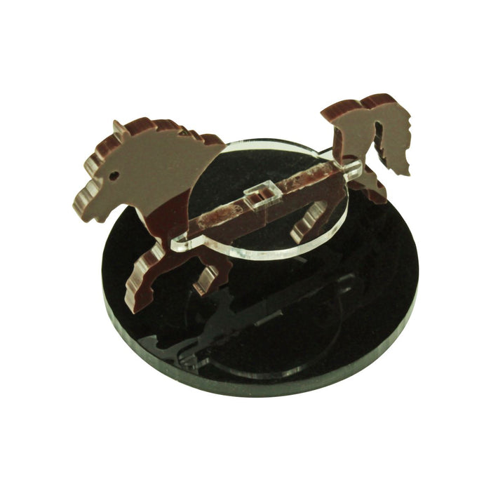 Pony Character Mount with 50mm Circular Base, Brown - LITKO Game Accessories