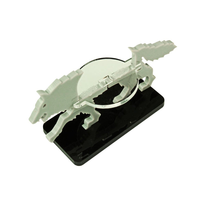 Wolf Character Mount with 25x50mm Base, Grey - LITKO Game Accessories