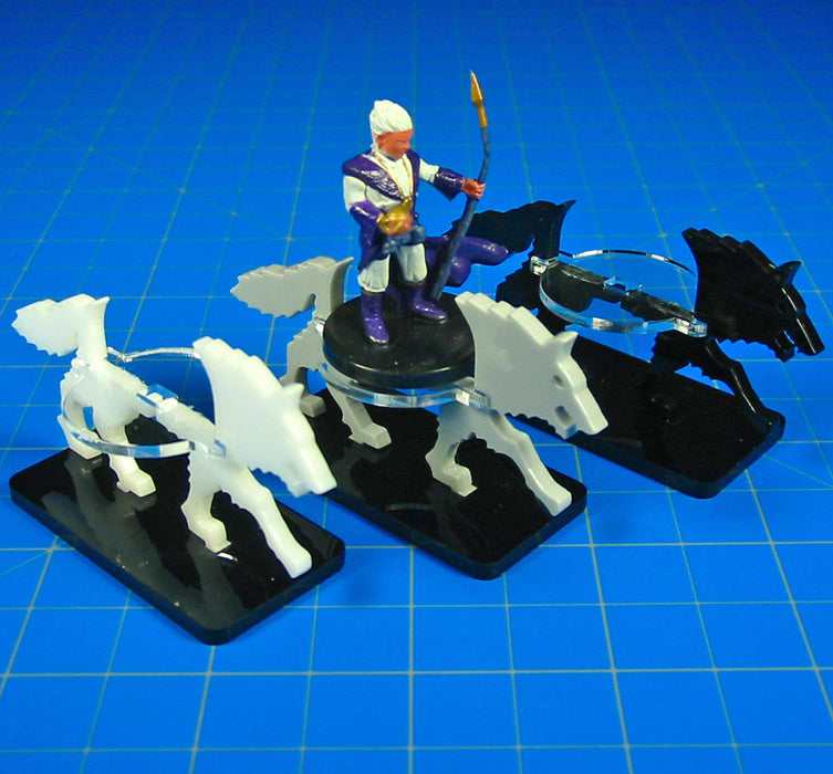 Wolf Character Mount with 40mm Circular Base, White - LITKO Game Accessories