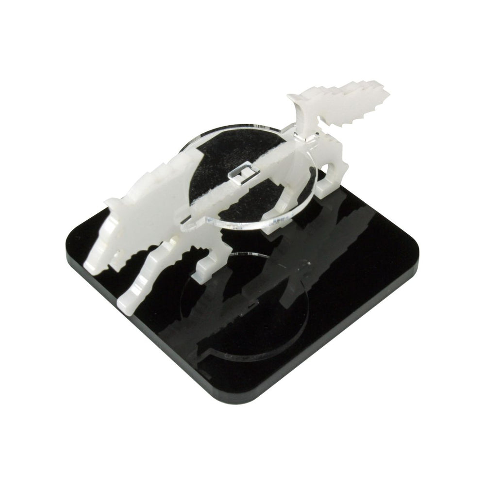 Wolf Character Mount with 2-inch Square Base, White - LITKO Game Accessories