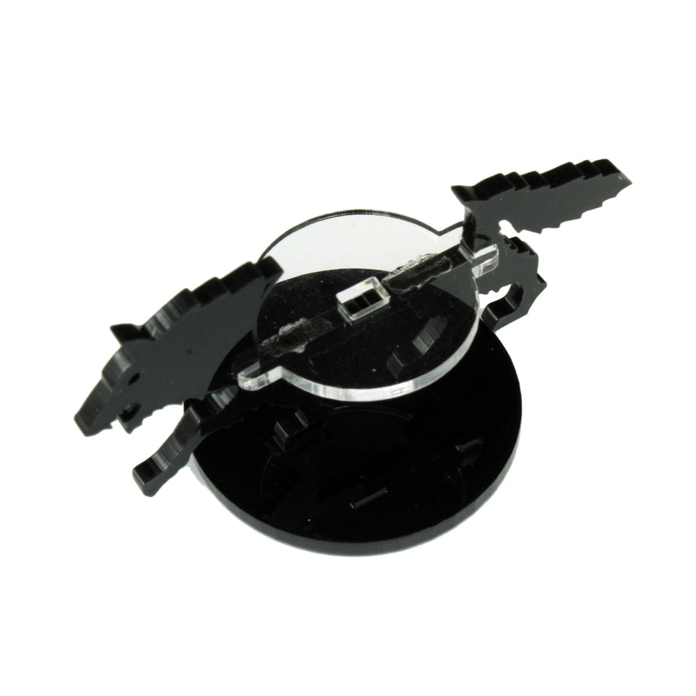 Wolf Character Mount with 40mm Circular Base, Black - LITKO Game Accessories