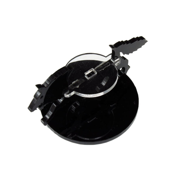 Wolf Character Mount with 50mm Circular Base, Black - LITKO Game Accessories