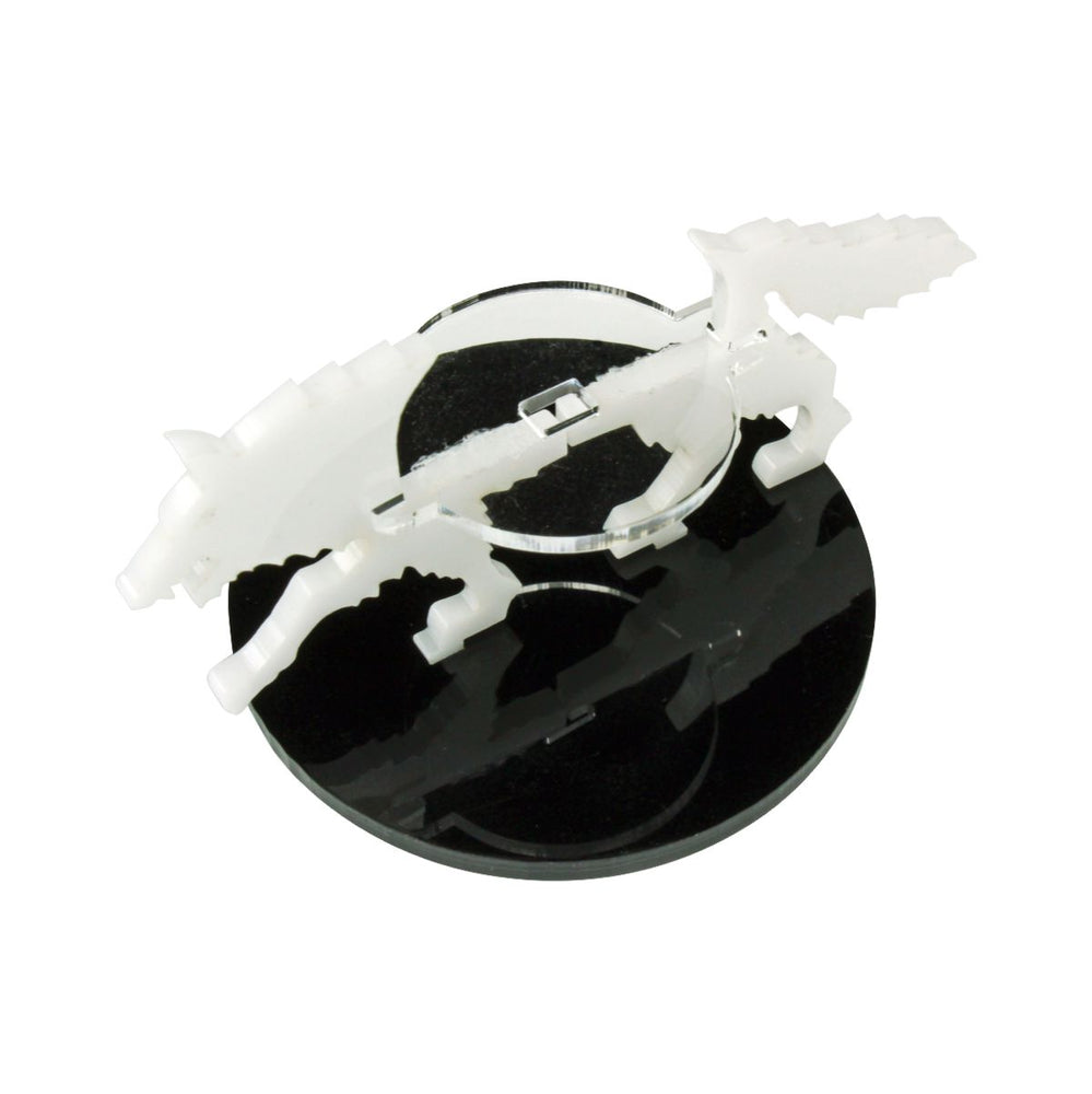 Wolf Character Mount with 50mm Circular Base, White - LITKO Game Accessories