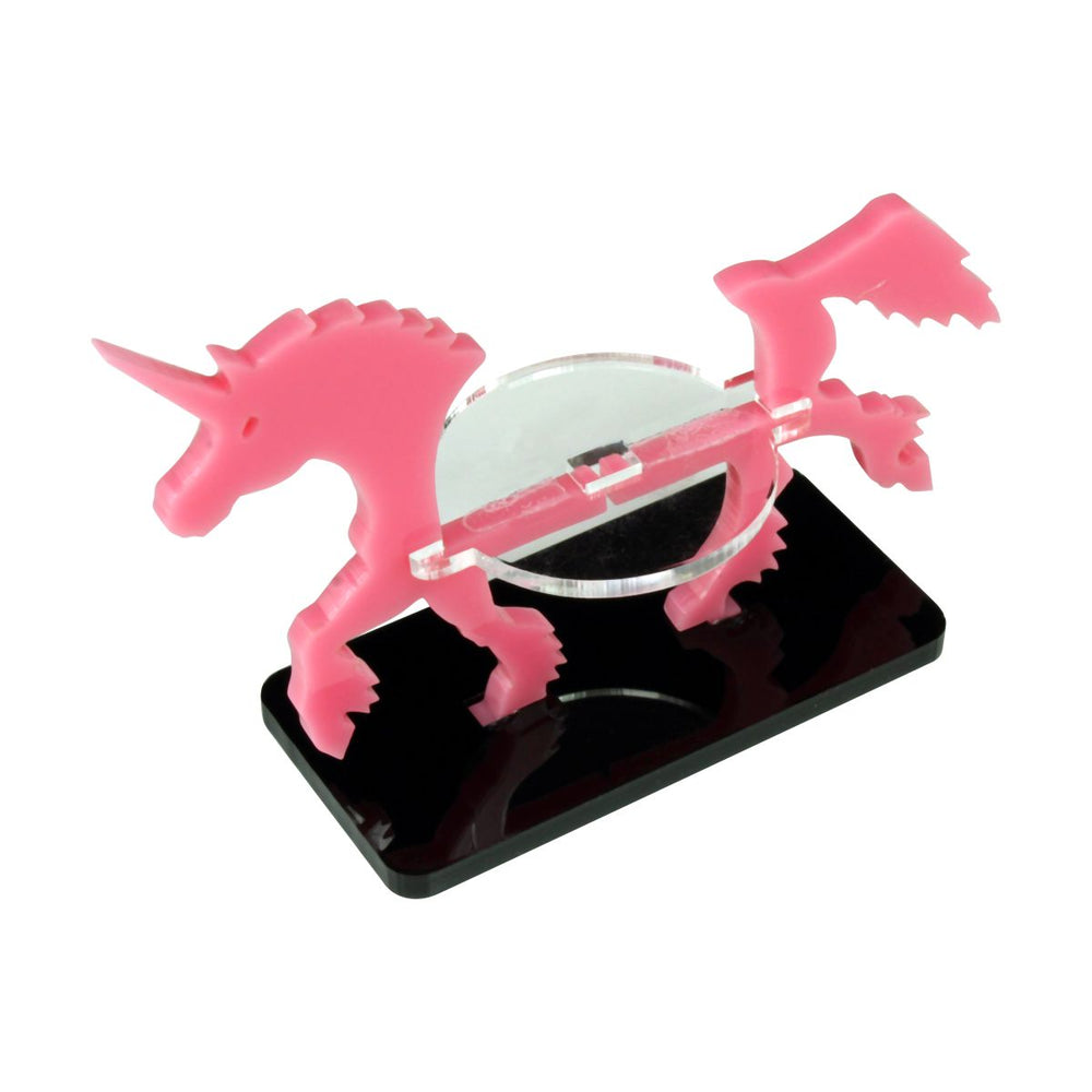 Unicorn Character Mount with 25x50mm Base, Pink - LITKO Game Accessories