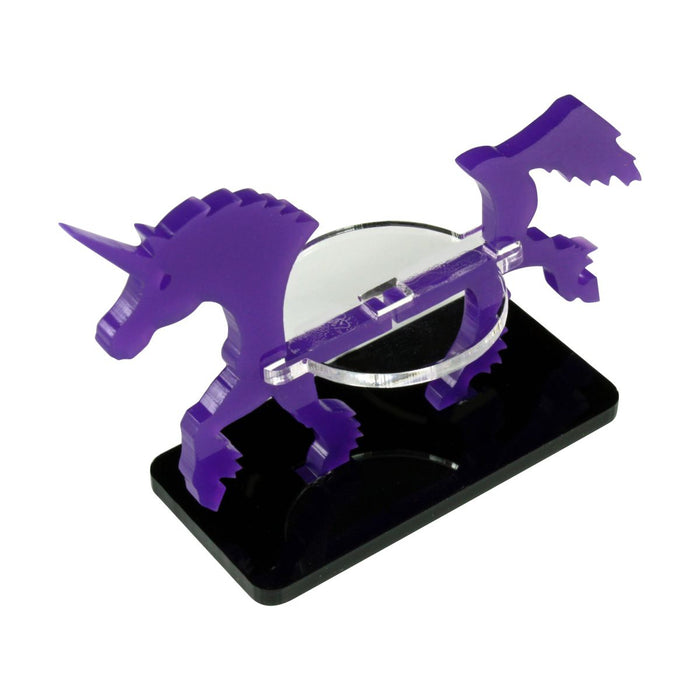 Unicorn Character Mount with 25x50mm Base, Purple - LITKO Game Accessories