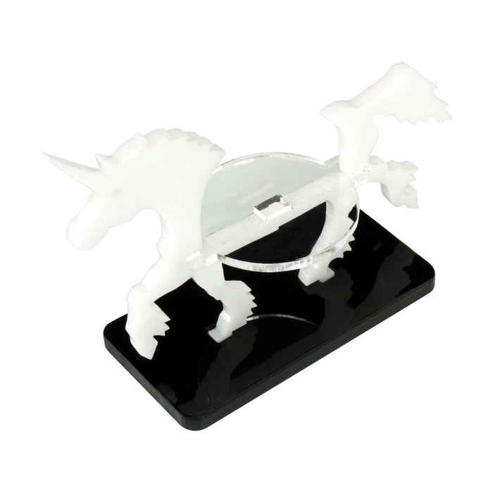 Unicorn Character Mount with 25x50mm Base, White - LITKO Game Accessories