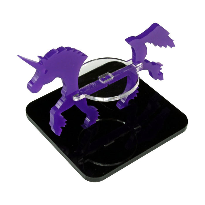 Unicorn Character Mount with 2-inch Square Base, Purple - LITKO Game Accessories