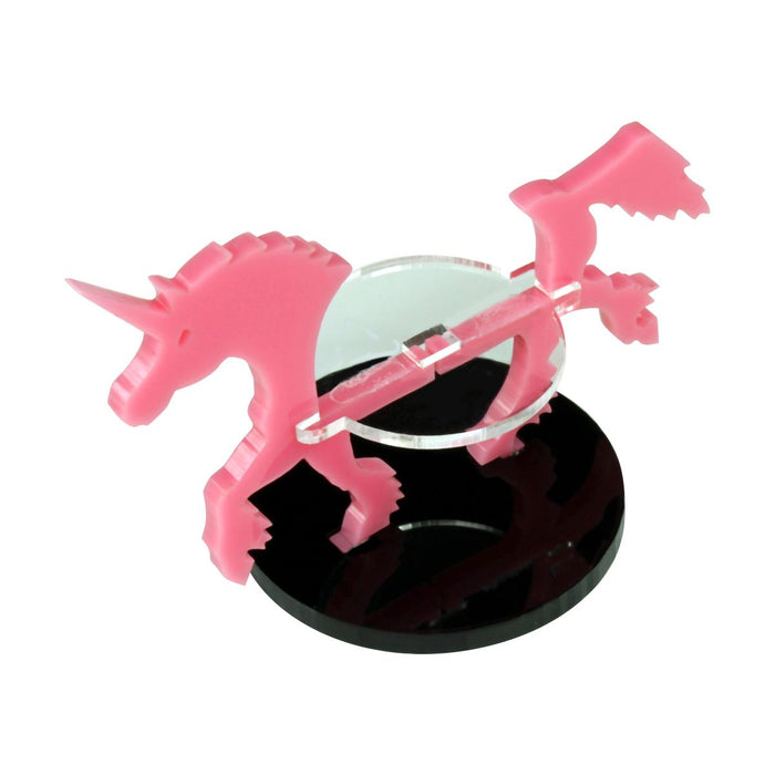 Unicorn Character Mount with 40mm Circular Base, Pink - LITKO Game Accessories