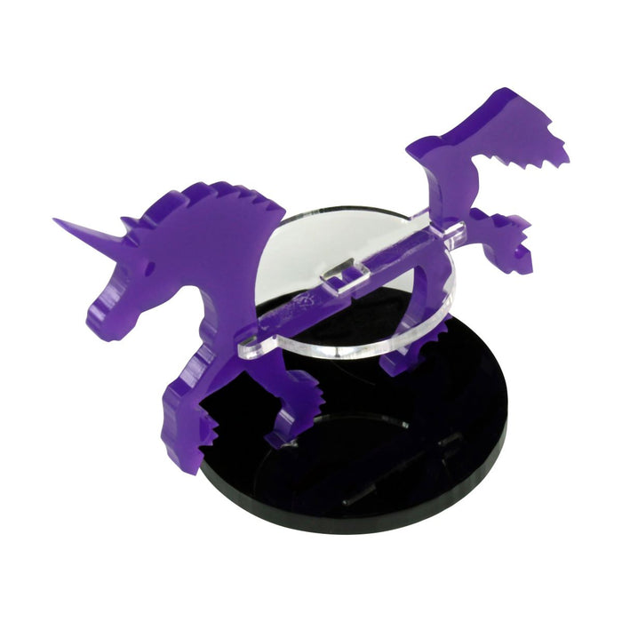 Unicorn Character Mount with 40mm Circular Base, Purple - LITKO Game Accessories