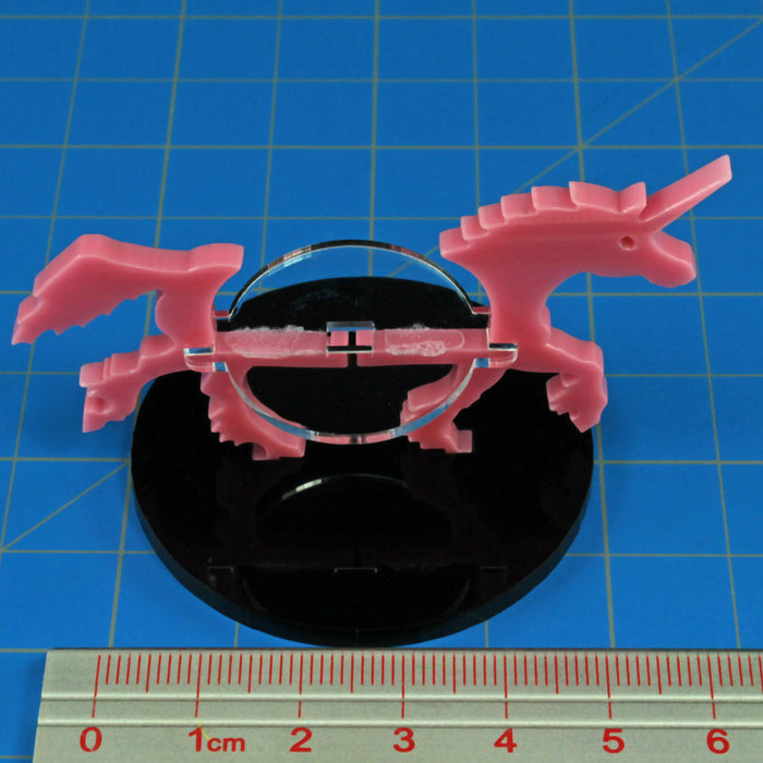 Unicorn Character Mount with 50mm Circular Base, Pink - LITKO Game Accessories