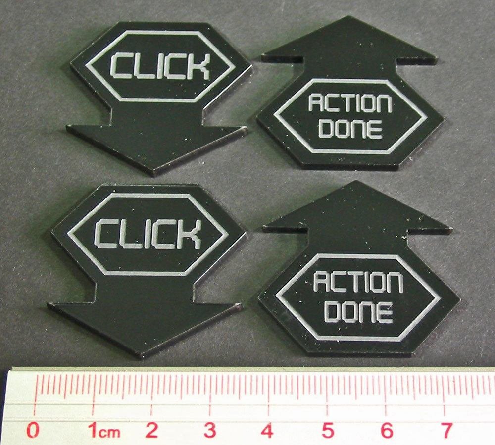 Net Hacker Click Tokens, Black (4) - LITKO Game Accessories