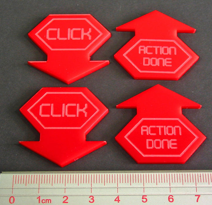LITKO Net Hacker Click Tokens, Red (4) - LITKO Game Accessories