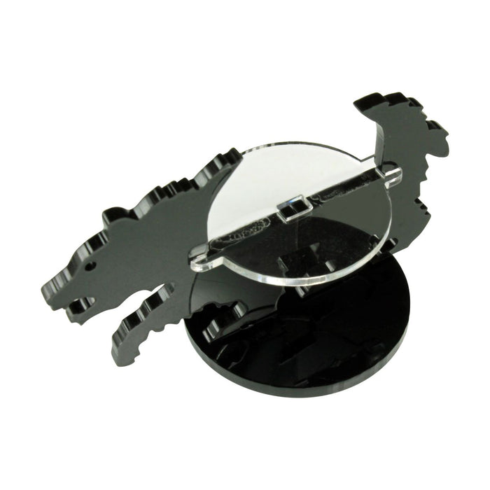 Bear Character Mount with 40mm Circular Base, Black - LITKO Game Accessories