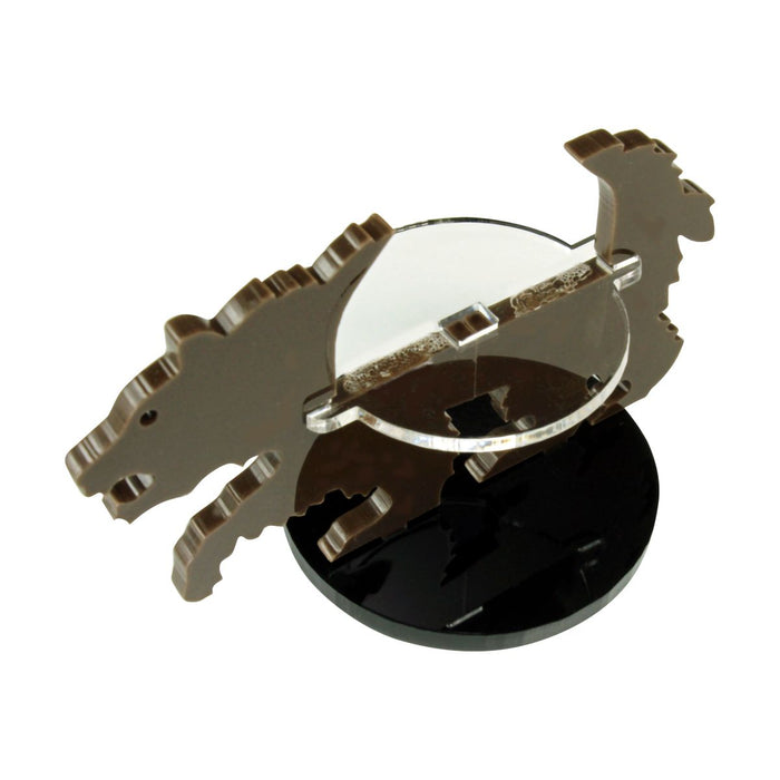 Bear Character Mount with 40mm Circular Base, Brown - LITKO Game Accessories